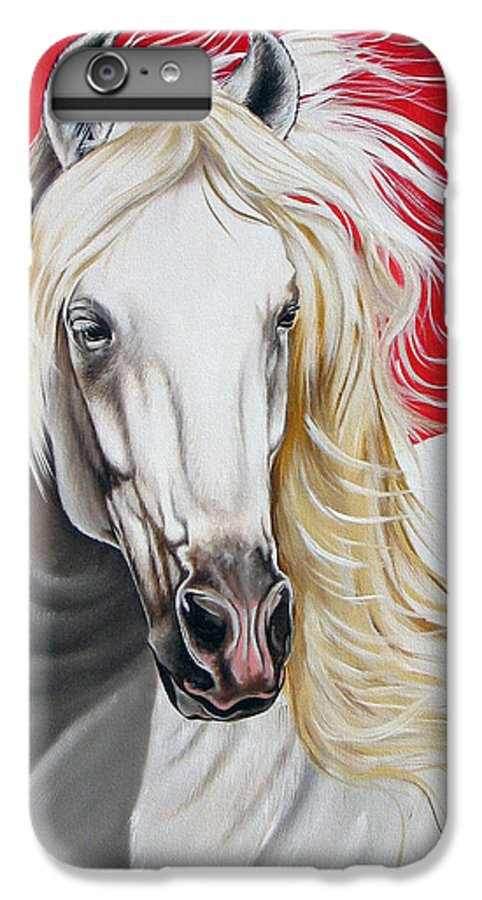 Horse IPhone 6 Plus Case featuring the painting Cleo by Ilse Kleyn