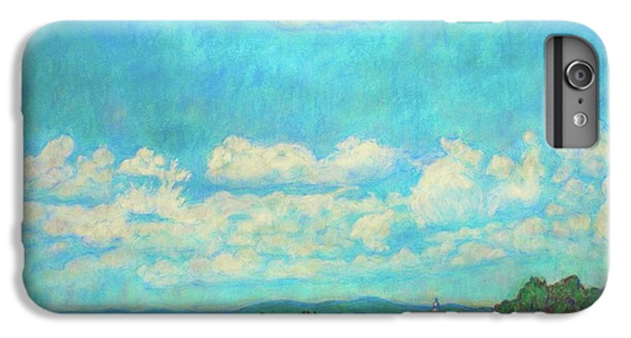 Landscape IPhone 6 Plus Case featuring the painting Clouds Over Fairlawn by Kendall Kessler