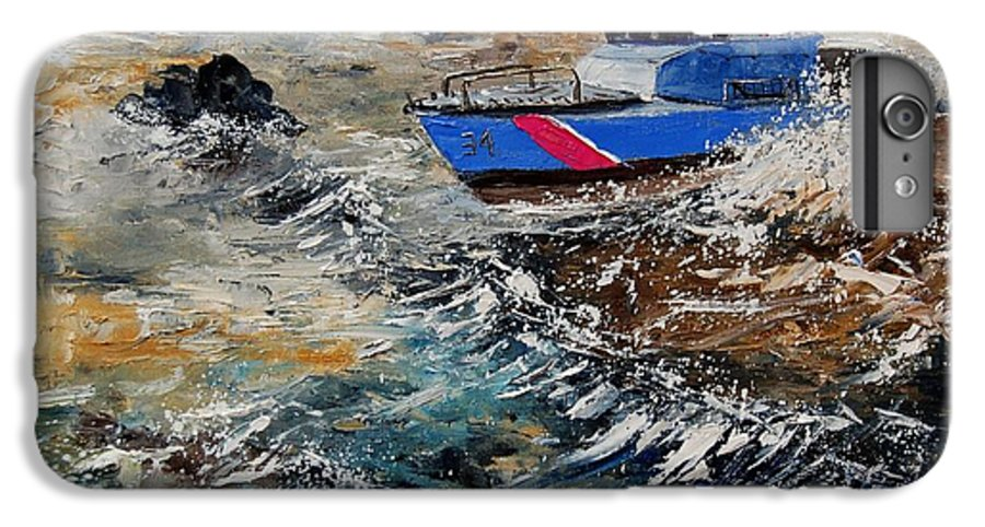 Sea IPhone 6 Plus Case featuring the painting Coastguards by Pol Ledent
