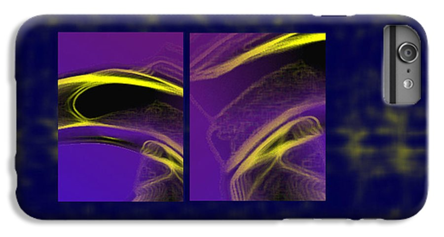 Abstract IPhone 6 Plus Case featuring the digital art Cobra by Steve Karol