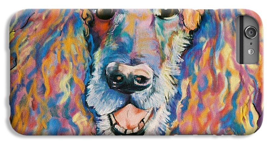 Standard Poodle IPhone 6 Plus Case featuring the painting Cole by Pat Saunders-White