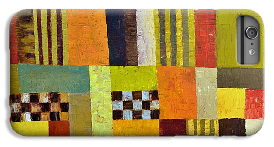 Colorful IPhone 6 Plus Case featuring the painting Color And Pattern Abstract by Michelle Calkins