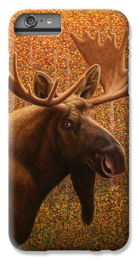 Moose IPhone 6 Plus Case featuring the painting Colorado Moose by James W Johnson