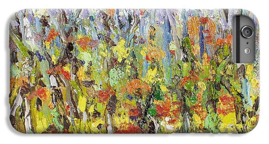 Autumn Abstract Paintings IPhone 6 Plus Case featuring the painting Colorful Forest by Seon-Jeong Kim