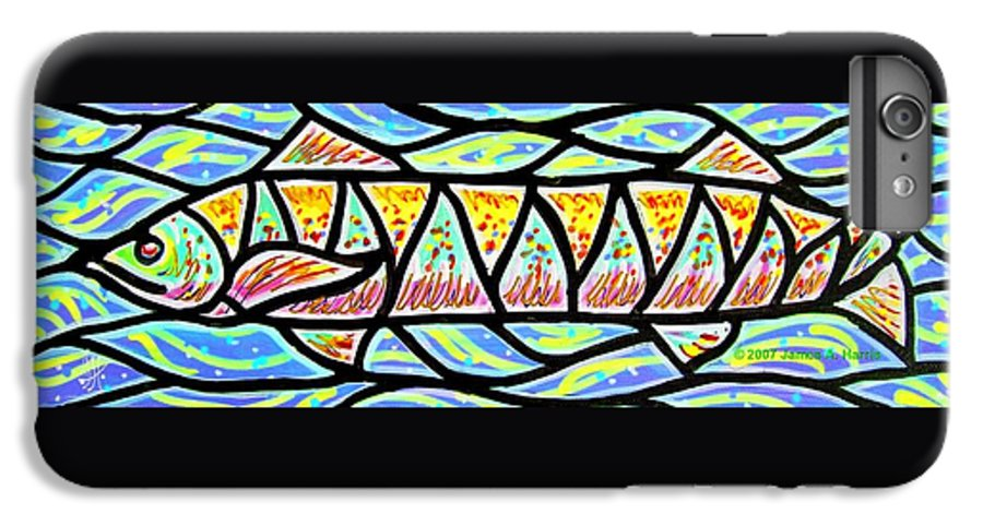 Fish IPhone 6 Plus Case featuring the painting Colorful Longfish by Jim Harris