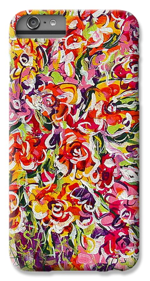 Framed Prints IPhone 6 Plus Case featuring the painting Colorful Organza by Natalie Holland