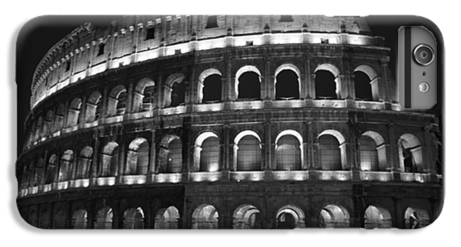 Italy IPhone 6 Plus Case featuring the photograph Colosseum by Kathy Schumann