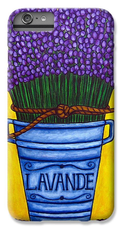 Antique IPhone 6 Plus Case featuring the painting Colours Of Provence by Lisa Lorenz