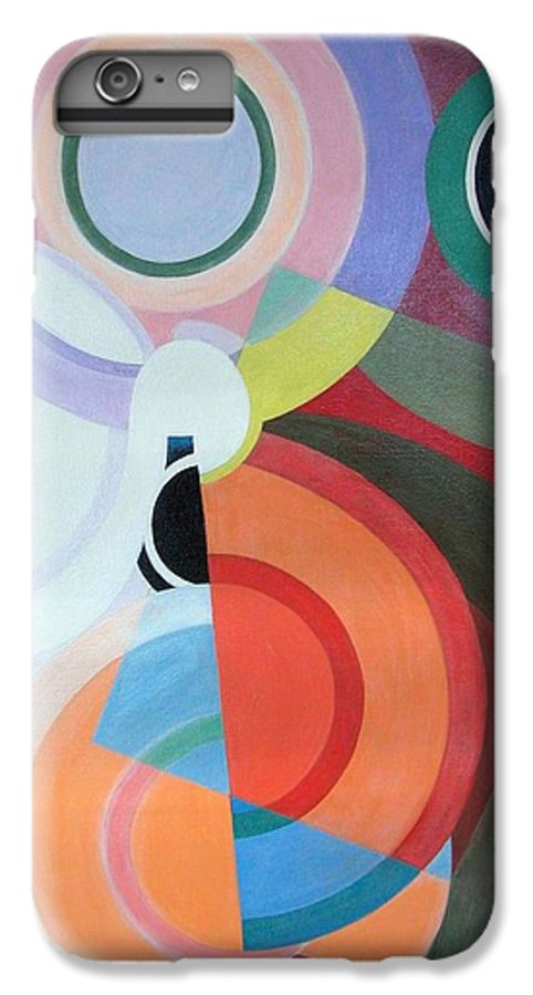 Abstract IPhone 6 Plus Case featuring the painting Complement by Muriel Dolemieux