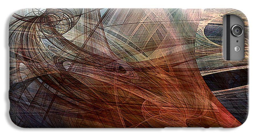 Abstract IPhone 6 Plus Case featuring the digital art Complex Decisions by Ruth Palmer