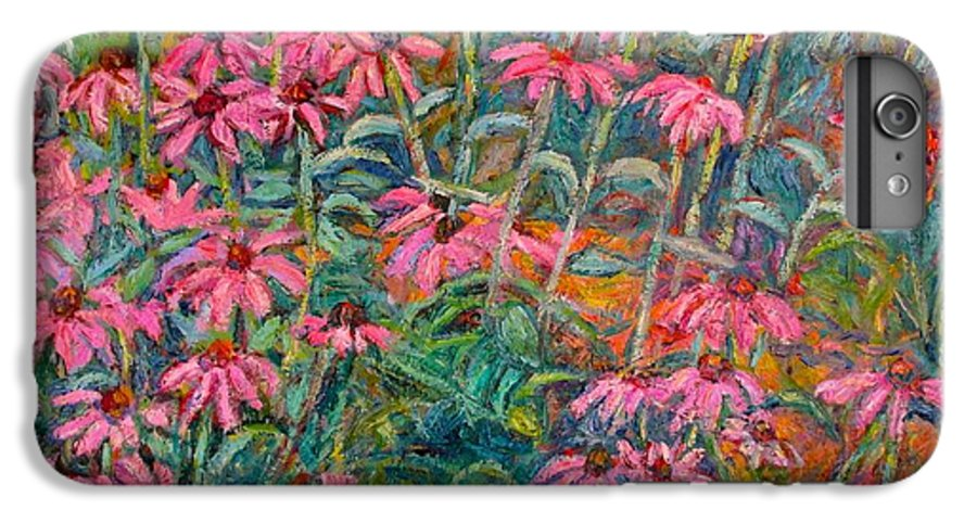 Kendall Kessler IPhone 6 Plus Case featuring the painting Coneflowers by Kendall Kessler