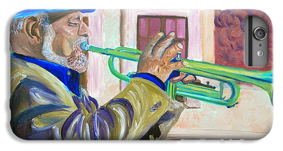 Street Musician IPhone 6 Plus Case featuring the painting Confederate Bugular by Michael Lee