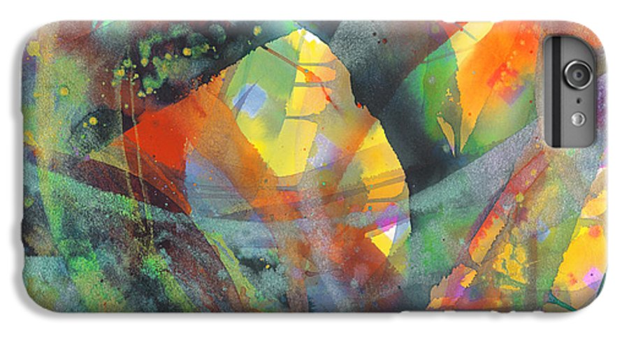 Abstract IPhone 6 Plus Case featuring the painting Connections by Lucy Arnold
