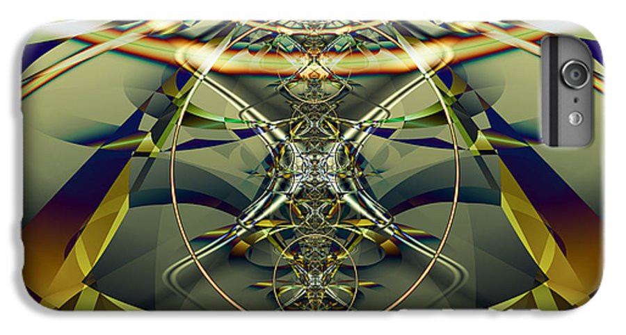 Fractal IPhone 6 Plus Case featuring the digital art Construction Rings by Frederic Durville
