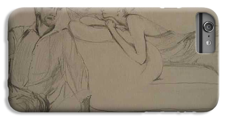 Seduction IPhone 6 Plus Case featuring the painting Contentment by Lizzy Forrester