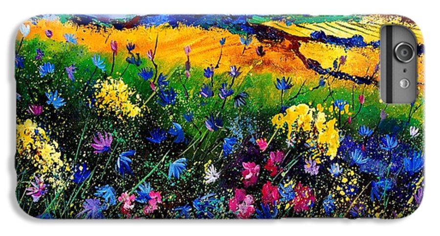 Flowers IPhone 6 Plus Case featuring the painting Cornflowers 680808 by Pol Ledent