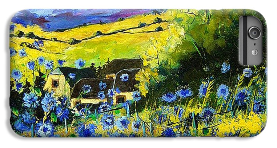 Flowers IPhone 6 Plus Case featuring the painting Cornflowers In Ver by Pol Ledent