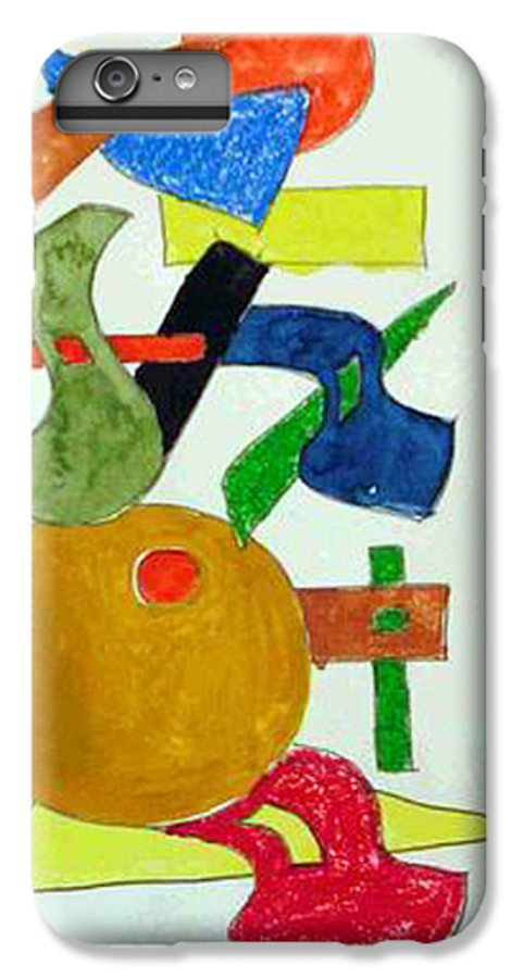 Watercolor IPhone 6 Plus Case featuring the mixed media Cosmic Collaboration by Natalee Parochka