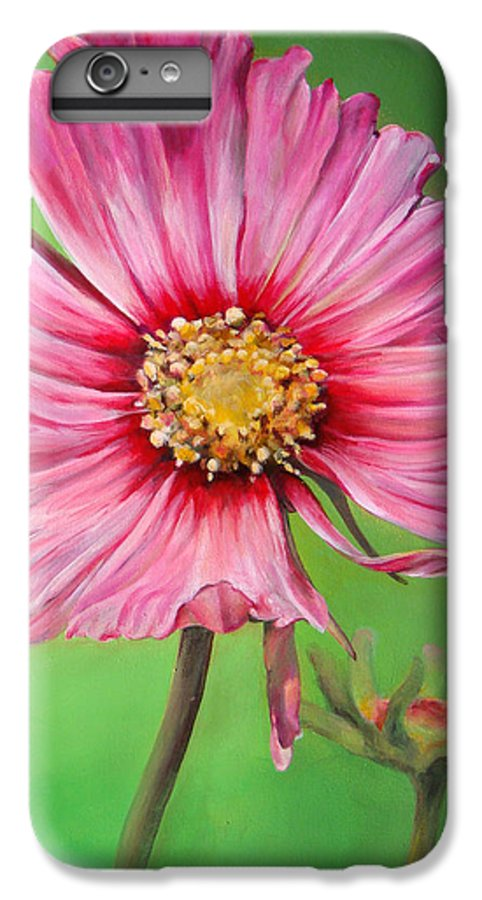 Floral Painting IPhone 6 Plus Case featuring the painting Cosmos by Dolemieux muriel