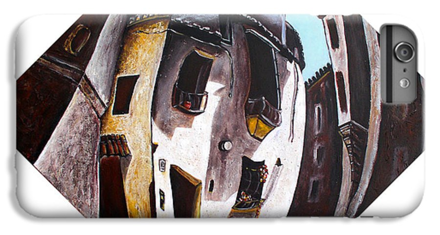 City Scape IPhone 6 Plus Case featuring the painting Costa Del Sol by Olga Alexeeva
