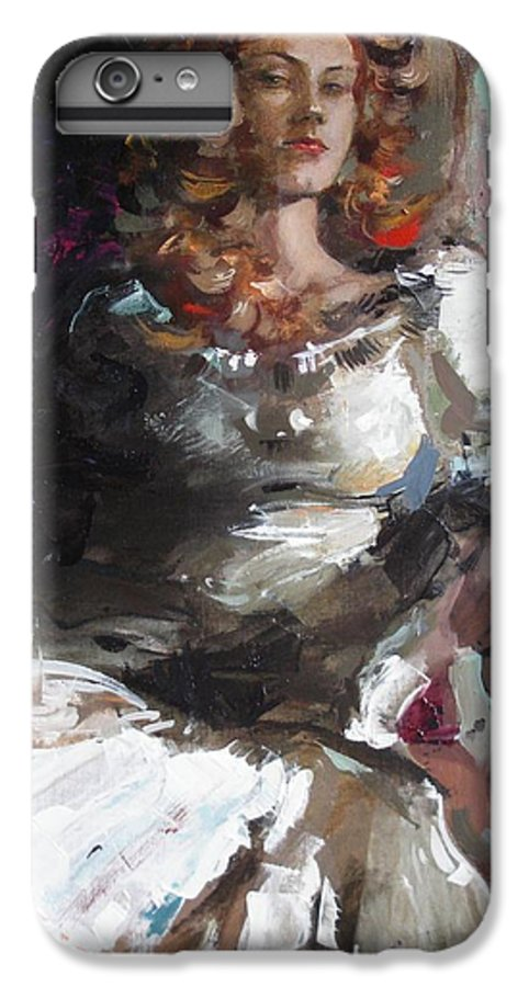 Ignatenko IPhone 6 Plus Case featuring the painting Countess by Sergey Ignatenko