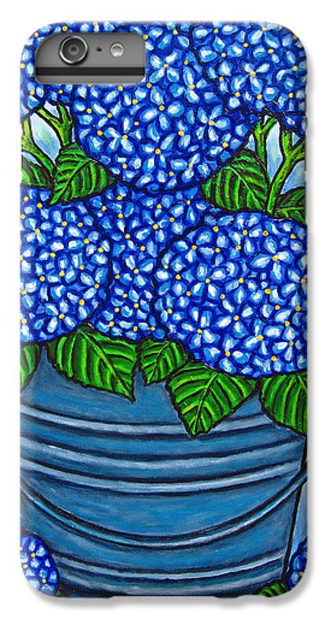 Blue IPhone 6 Plus Case featuring the painting Country Blues by Lisa Lorenz