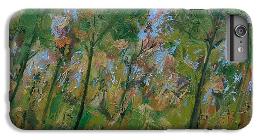Trees IPhone 6 Plus Case featuring the painting Country Landscape by Mario Zampedroni