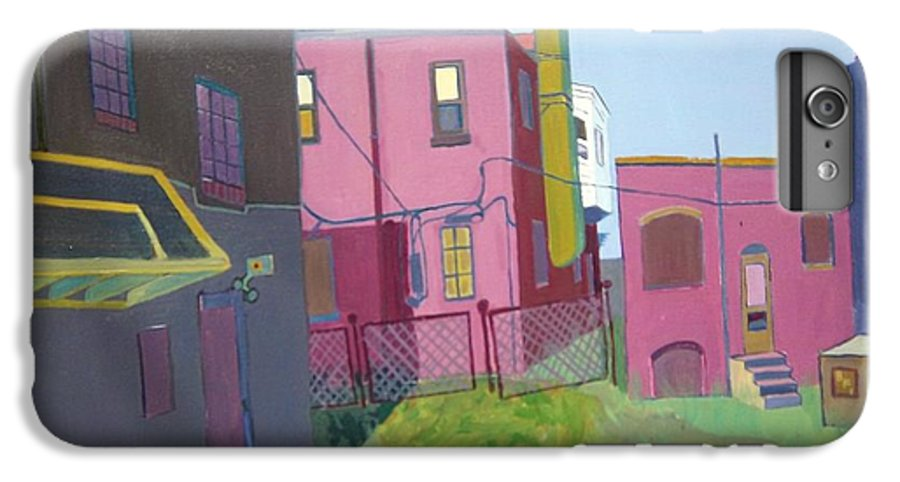 Alleyway IPhone 6 Plus Case featuring the painting Courtyard View by Debra Bretton Robinson