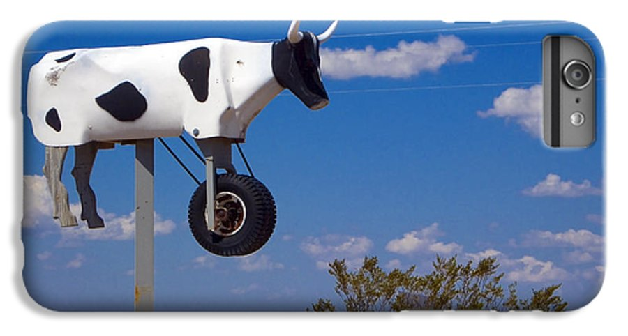 Cow IPhone 6 Plus Case featuring the photograph Cow Power by Skip Hunt