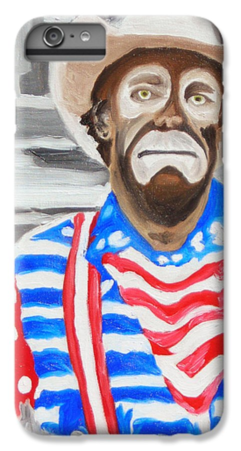 Rodeo IPhone 6 Plus Case featuring the painting Cowboy Savior by Michael Lee