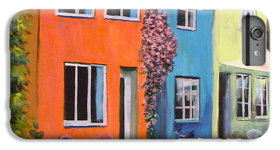 Cozy IPhone 6 Plus Case featuring the painting Cozy Street by Art Nomad Sandra Hansen