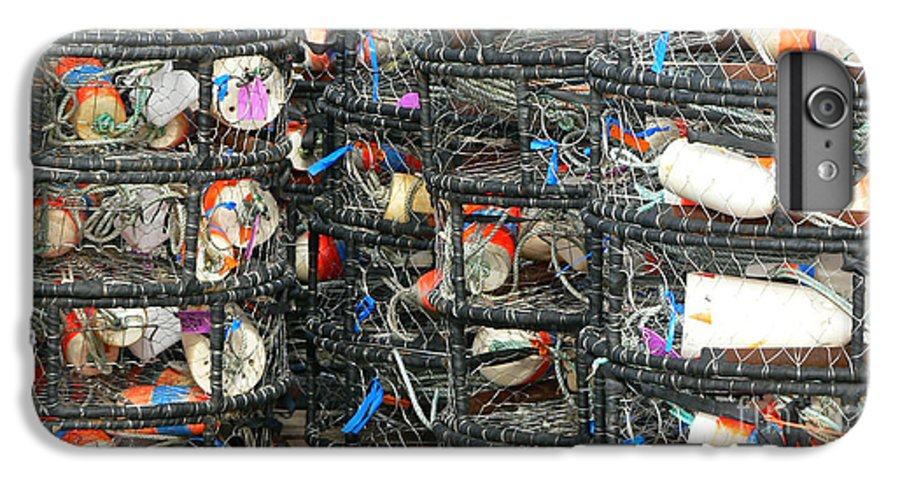 Crabs IPhone 6 Plus Case featuring the photograph Crab Traps by Larry Keahey