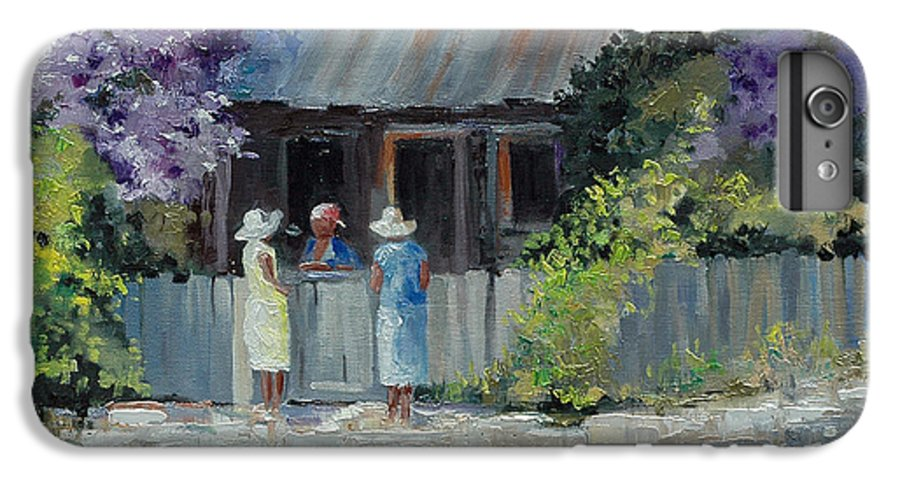 Floral IPhone 6 Plus Case featuring the painting Crape Myrtle And Ladies Of Darien by Glenn Secrest
