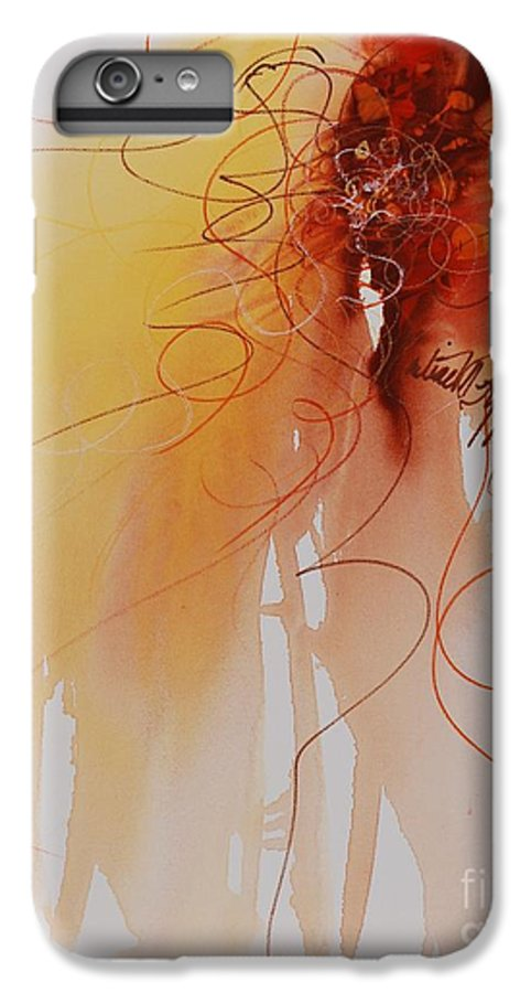 Creativity IPhone 6 Plus Case featuring the painting Creativity by Nadine Rippelmeyer