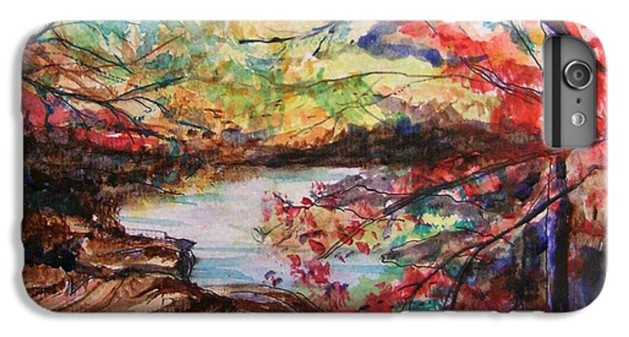 Creek IPhone 6 Plus Case featuring the painting Creek Blue Ridge Mountains by Lizzy Forrester