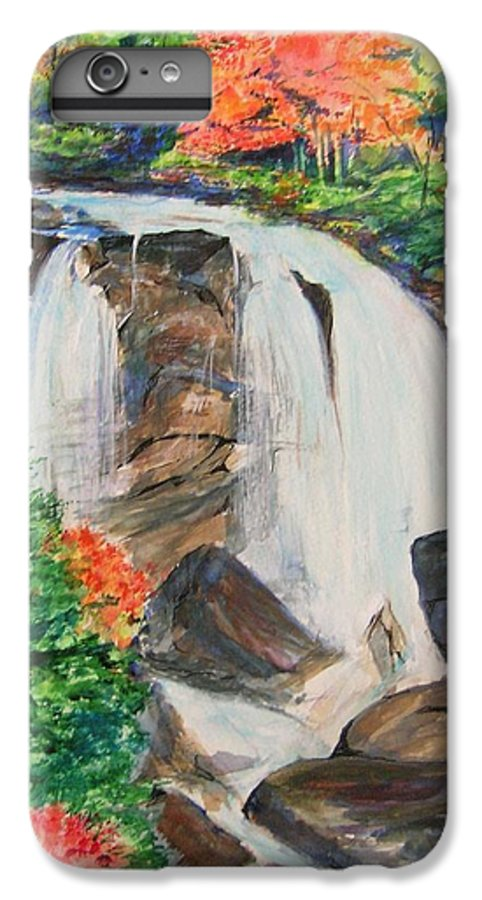 Creek IPhone 6 Plus Case featuring the painting Creek In Autumn by Lizzy Forrester