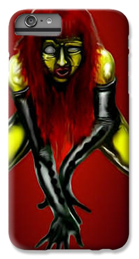 Pin-up IPhone 6 Plus Case featuring the digital art Crimson Gold by Will Le Beouf