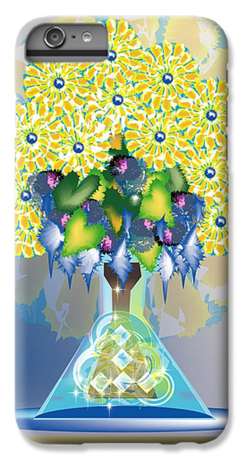 Flowers IPhone 6 Plus Case featuring the digital art Crystal Boquet by George Pasini