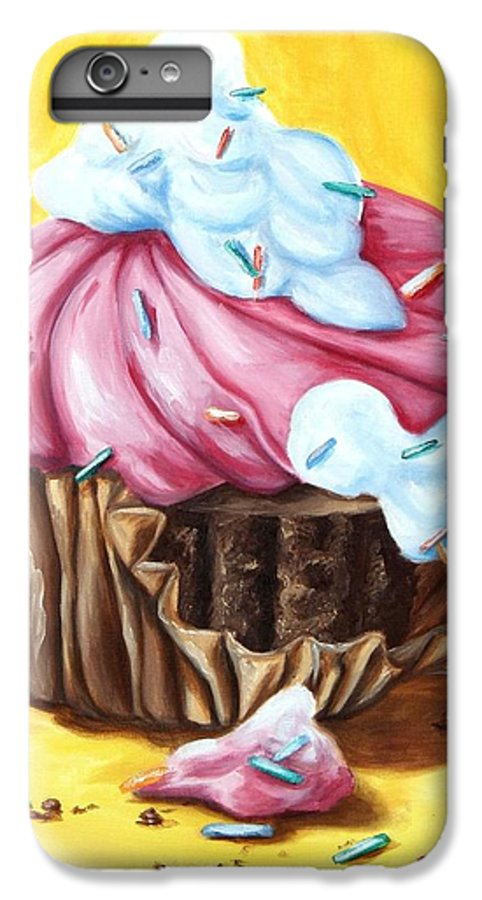 Cupcake IPhone 6 Plus Case featuring the painting Cupcake by Maryn Crawford