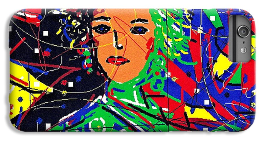 Woman IPhone 6 Plus Case featuring the digital art Cyberspace Goddess by Natalie Holland