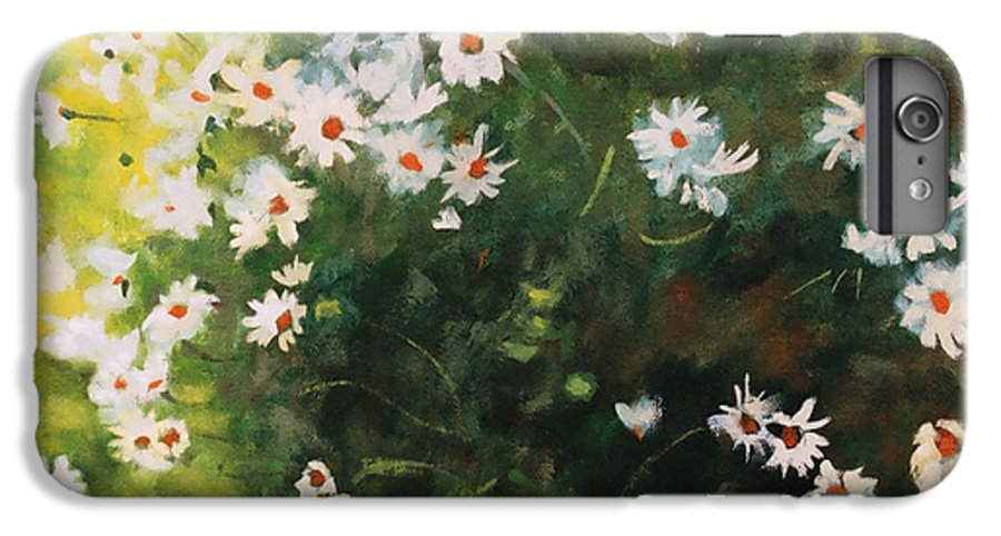 Daisies IPhone 6 Plus Case featuring the painting Daisies by Iliyan Bozhanov