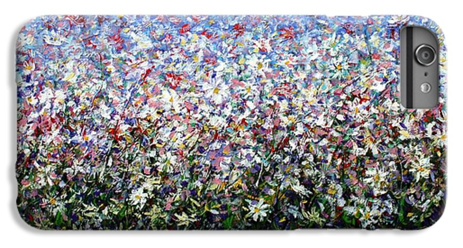 Daisies IPhone 6 Plus Case featuring the painting Daisies by Mario Zampedroni
