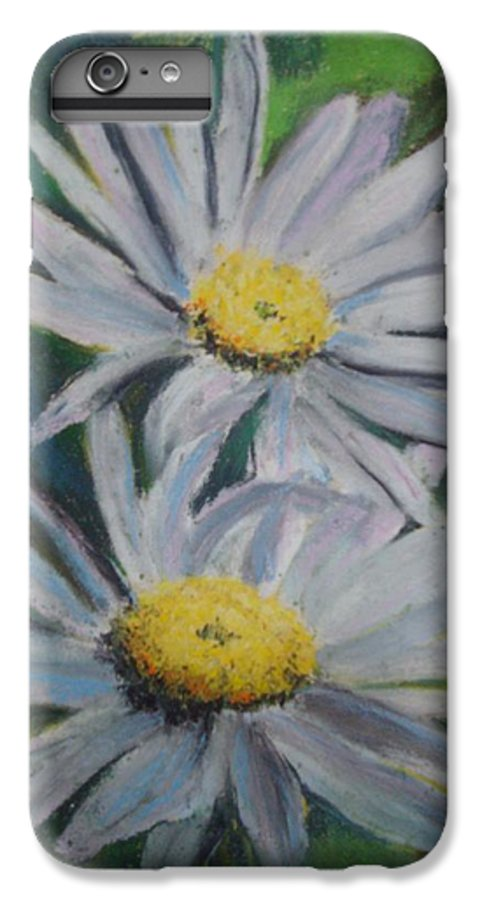 Daisies IPhone 6 Plus Case featuring the painting Daisies by Melinda Etzold