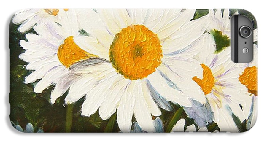 Daisy IPhone 6 Plus Case featuring the painting Daisy by Tami Booher
