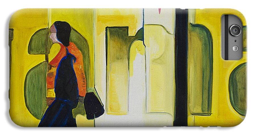 Abstract IPhone 6 Plus Case featuring the painting Dam Shopper by Patricia Arroyo