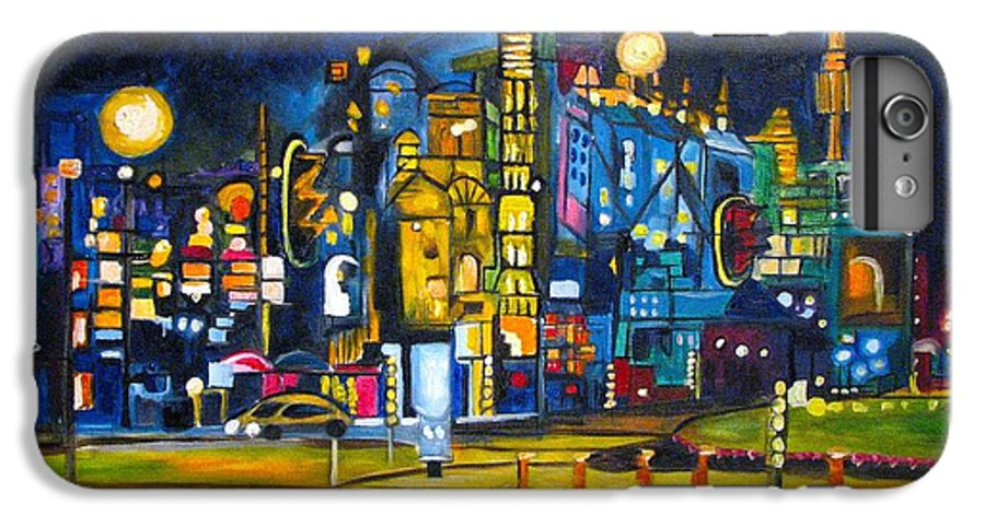 Cityscape IPhone 6 Plus Case featuring the painting Dam Square by Patricia Arroyo