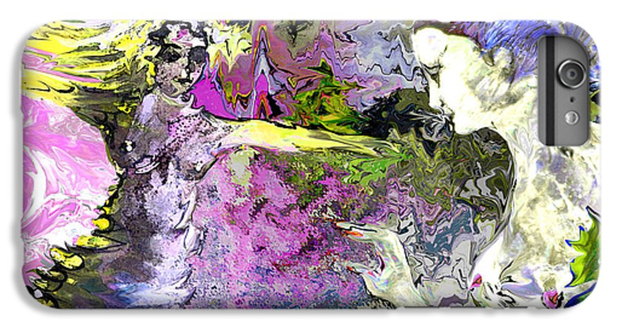 Miki IPhone 6 Plus Case featuring the painting Dance In Violet by Miki De Goodaboom