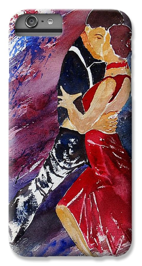 Tango IPhone 6 Plus Case featuring the painting Dancing Tango by Pol Ledent