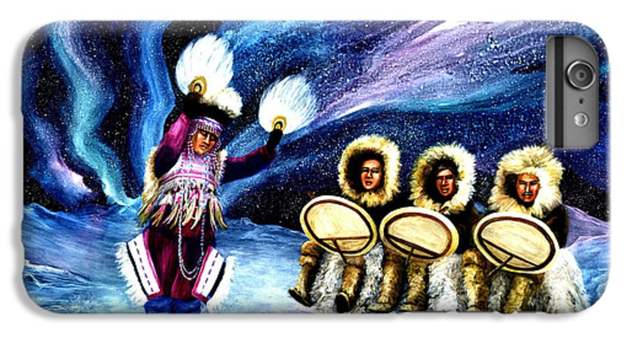 Alaska IPhone 6 Plus Case featuring the painting Dancing With The Spirits by Dianne Roberson