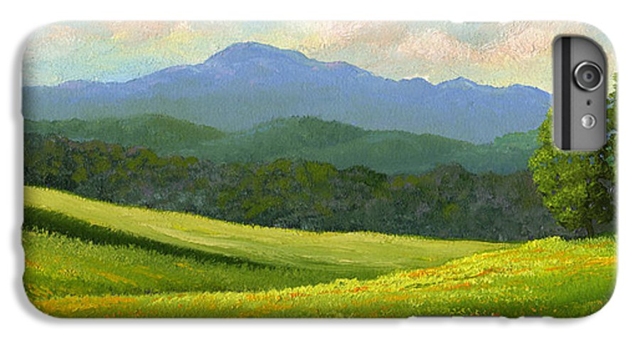 Landscape IPhone 6 Plus Case featuring the painting Dandelion Meadows by Frank Wilson